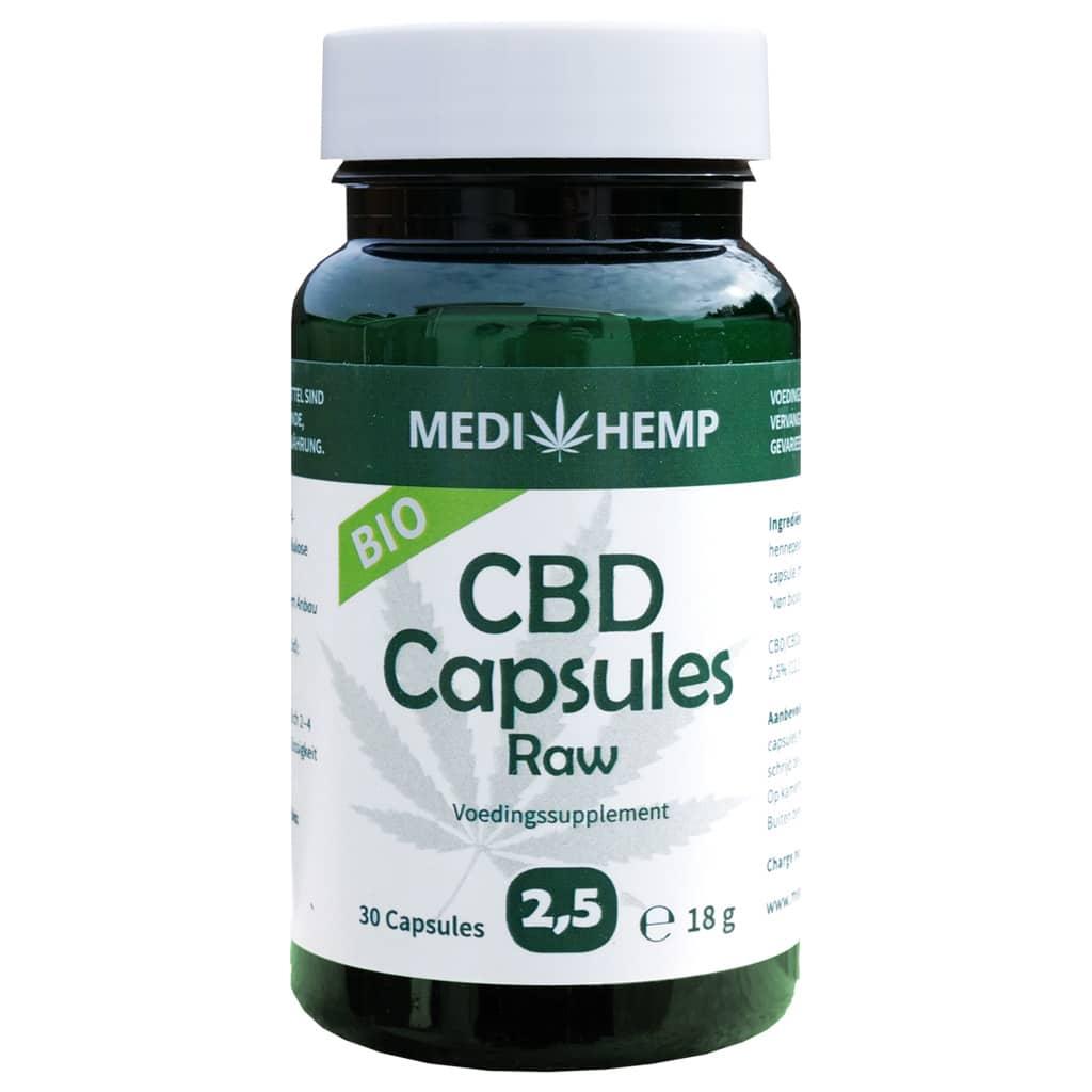 Medihemp CBD Capsules 2,5% (12,5mg) - CBDSense com